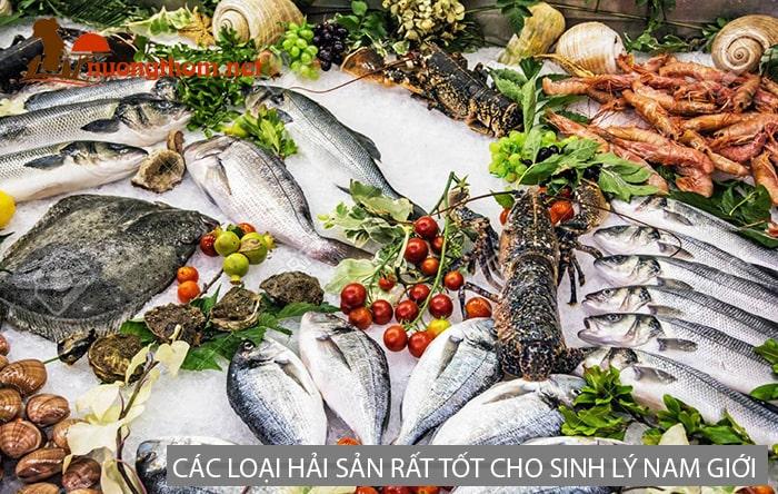 Các loại hải sản và cá rất tốt cho sức khỏe sinh lý nam giới