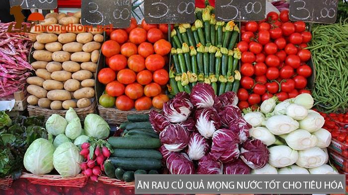Ăn rau củ quả mọng nước tốt cho tiêu hóa