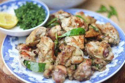 Công thức làm gà nướng lá chanh sả ớt cực ngon