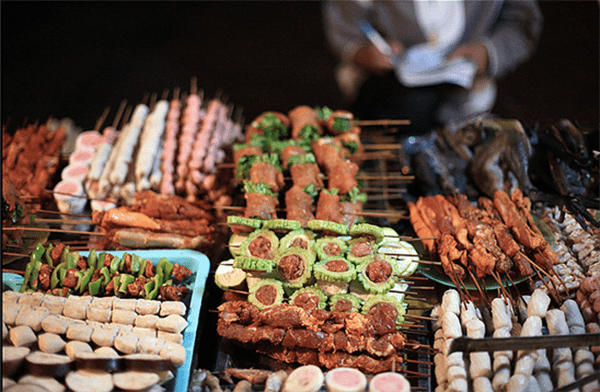 Mùa đông lên phố ẩm thực SaPa thưởng thức đồ nướng !