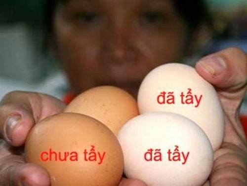 Cách bảo quản và phân biệt trứng gà ta bị tẩy trắng