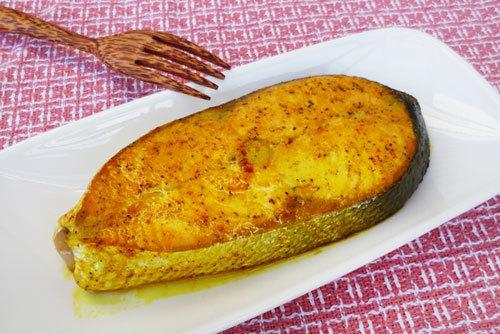cá hồi nướng nghệ