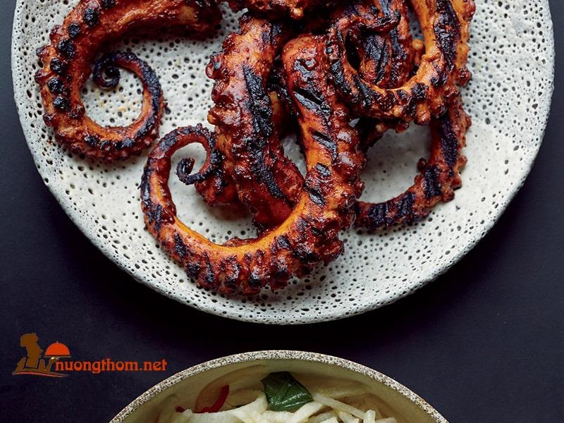 Cách làm bạch tuộc nướng ngũ vị hương