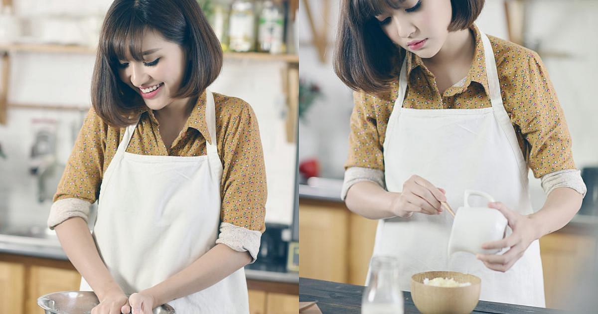 Cô nàng Bùa yêu tươi tắn khi vào bếp