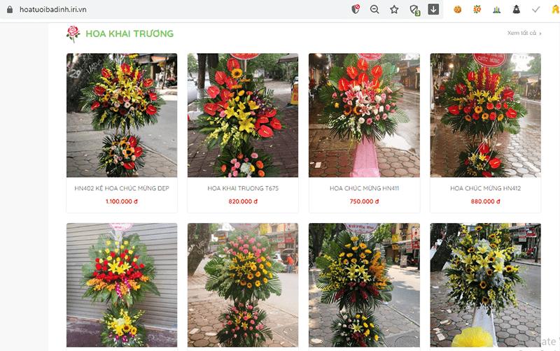 Shop điện hoa Nét Việt Ba Đình