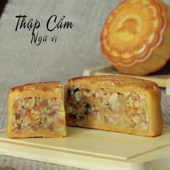 Bánh trung thu nướng thập cẩm ngũ vị (chay)