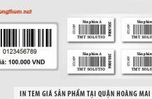 Kinh nghiệm in tem giá sản phẩm tại quận Hoàng Mai giá rẻ
